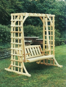 Cypress Arbor Swing Set