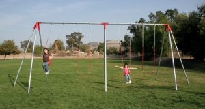 Four Swing Double Bay Swing Set