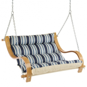 The Hamptons Summer Stripe Cushioned Outdoor Double Swing