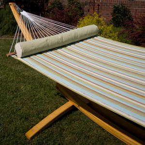 Spring Bay Stripe Quilted Hammock