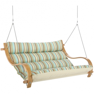 Spring Bay Deluxe Cushioned Outdoor Double Swing