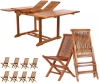 9pc. Extension Folding Chair Set