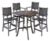 Black Acacia 5 Piece Bar Set