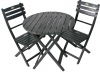 Black Acacia Folding Bistro Chair (Table Not Included)