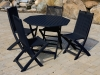 Black Acacia Painted Folding Patio Set