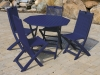 Blue Acacia Painted Patio Set