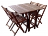 Brown Acacia 5 Piece Java Set