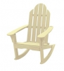 Creamy Yellow Adirondack Rocking Chair