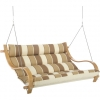 Rio Birch Deluxe Cushioned Outdoor Double Swing