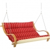 Royal Red Stripe Deluxe Cushioned Outdoor Double Swing