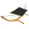 Classic Black Stripe Quilted Hammock