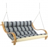The Hamptons Summer Stripe Deluxe Cushioned Outdoor Double Swing