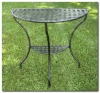 Mandalay Iron KD Half Moon 2 Tier Table