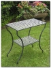 Mandalay Rectangular Iron 2-Tier Table
