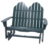 Earthbound Green Adirondack Glider