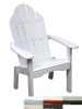 White Polyresin Deck/Dining Chair