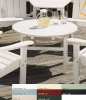 White Polyresin Occasional Table (33 Inches)