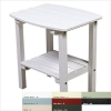 White Polyresin Side Table With Shelf