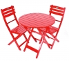 Red Acacia Folding Bistro Chair (Table Not Included)