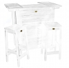 White Acacia Barstool (Bar Not Included)