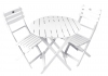 White Acacia Folding Bistro Chair (Table Not Included)
