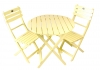 Yellow Acacia Folding Bistro Table (Chairs Not Included)