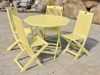 Yellow Acacia Painted Folding Chair (Table Not Included)